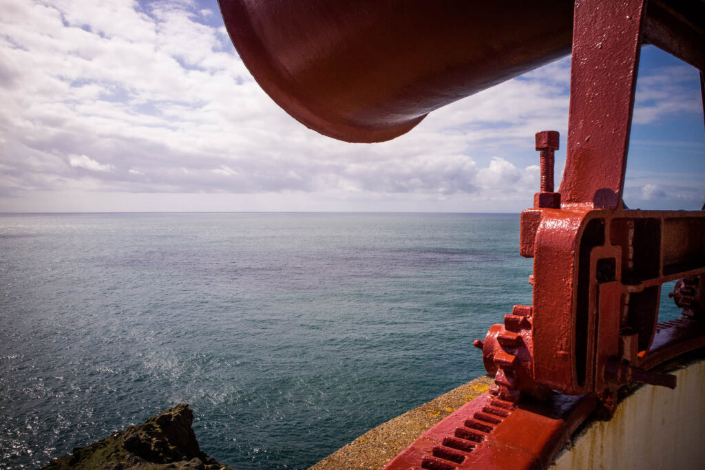 The foghorn of the Mull of Galloway lighthouse in Scotland