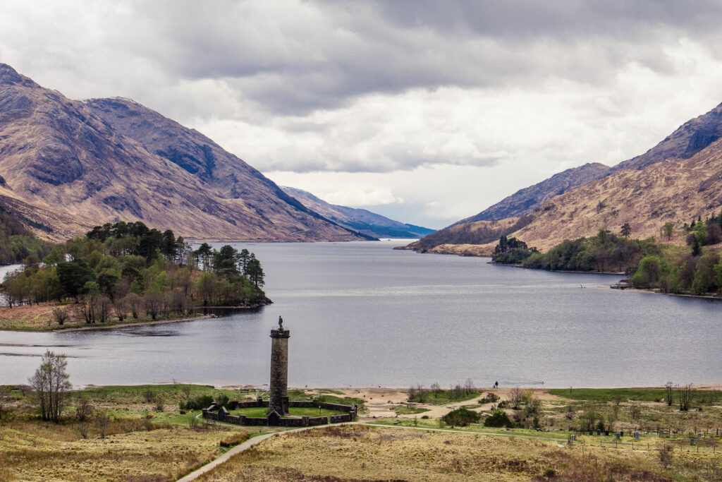 Glenfinnan Monument in the Scottish Highlands